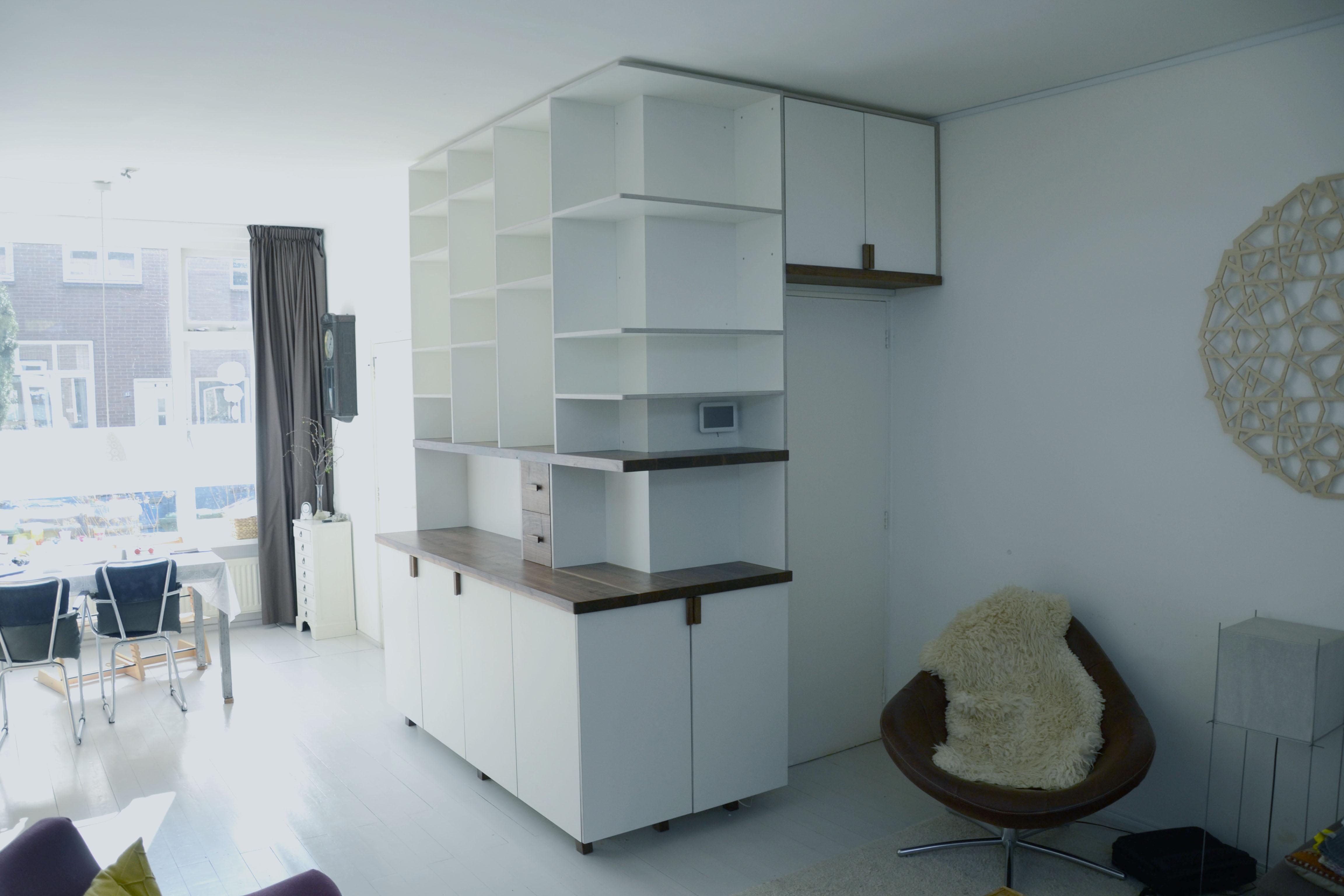huiskamer kast boheemen ontwerp meubelmaker